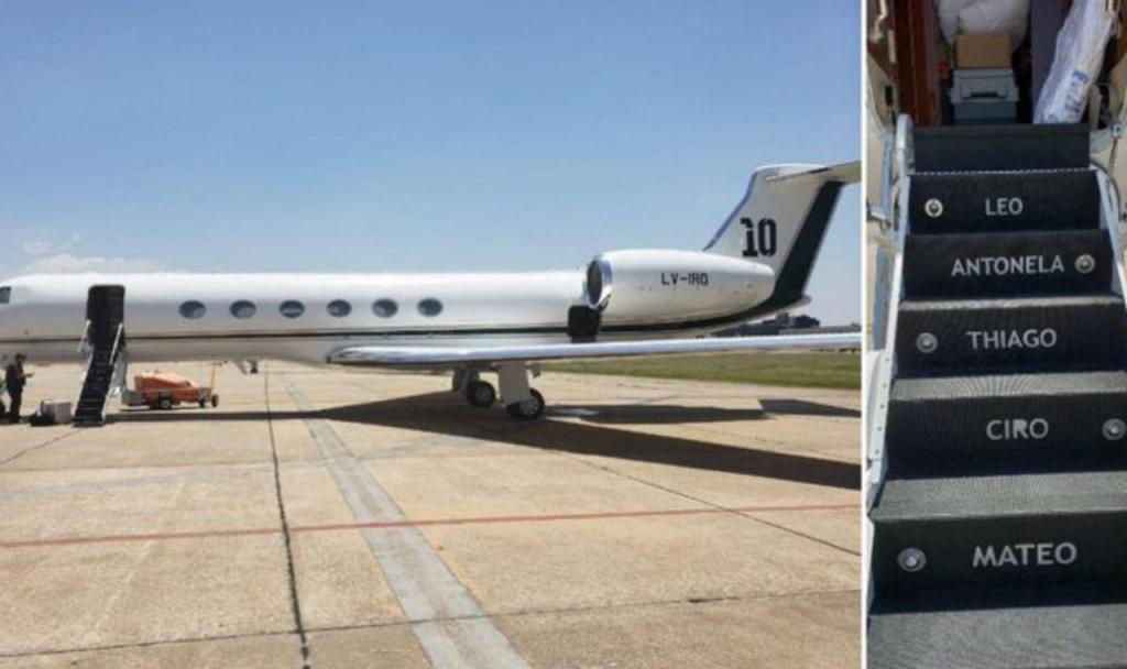 Leo Messi emprestou avião