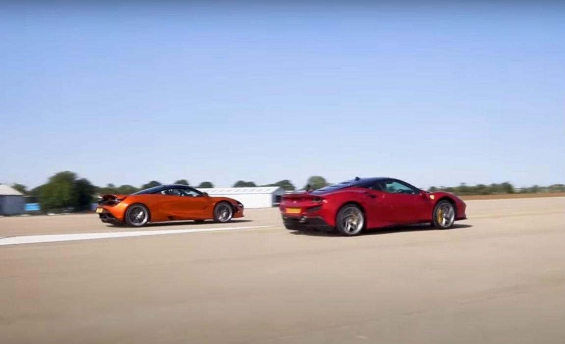 Mclaren 720S vs. Ferrari F8 Tributo (reprodução Youtube «888MF»)