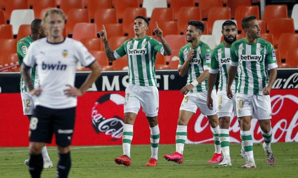 Betis bateu Valencia no Mestalla