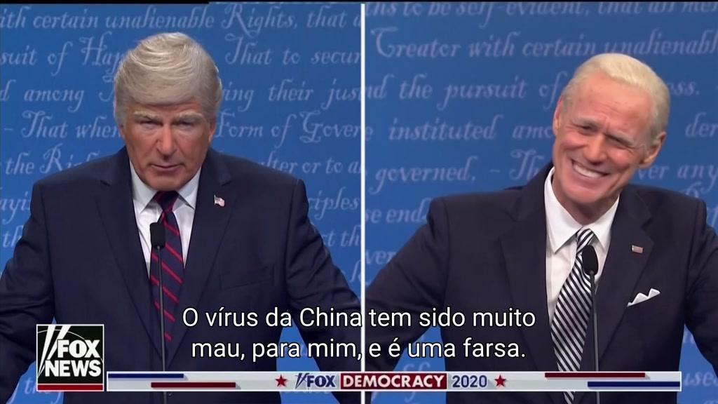 A paródia de Baldwin e Carrey ao debate presidencial desta semana