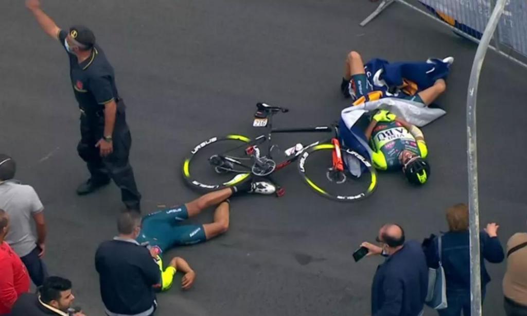 Acidente com helicópetero no Giro provocou dois feridos