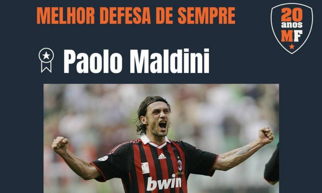 Maldini eleito melhor defesa de sempre pelos leitores do Maisfutebol