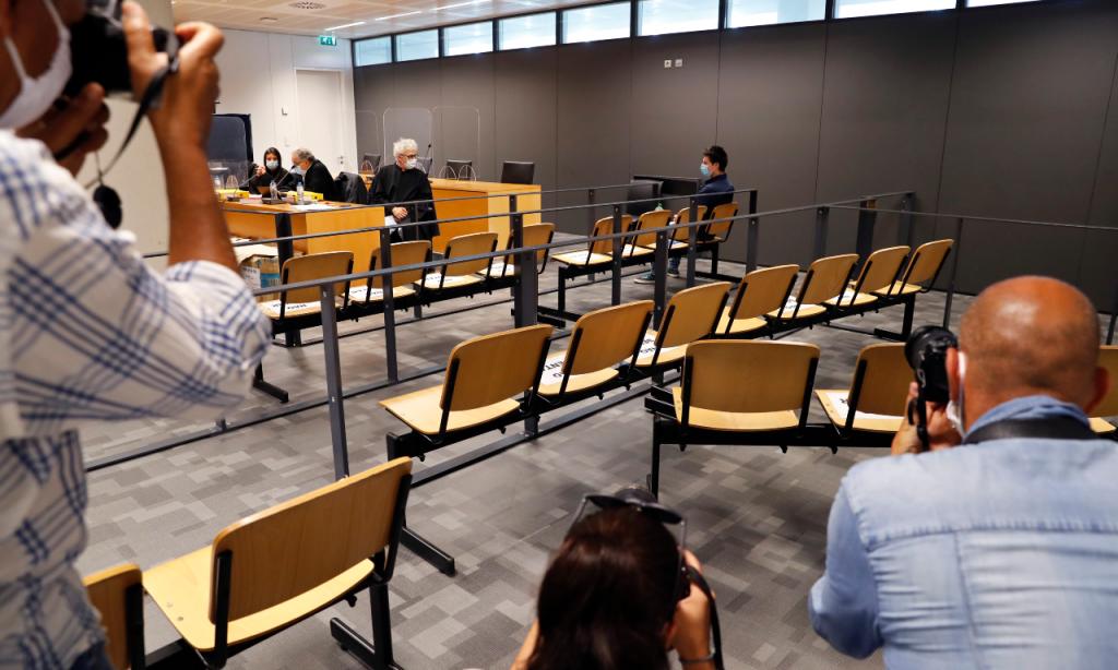 Football Leaks, Rui Pinto no início do julgamento do processo (Armando Franca/AP)