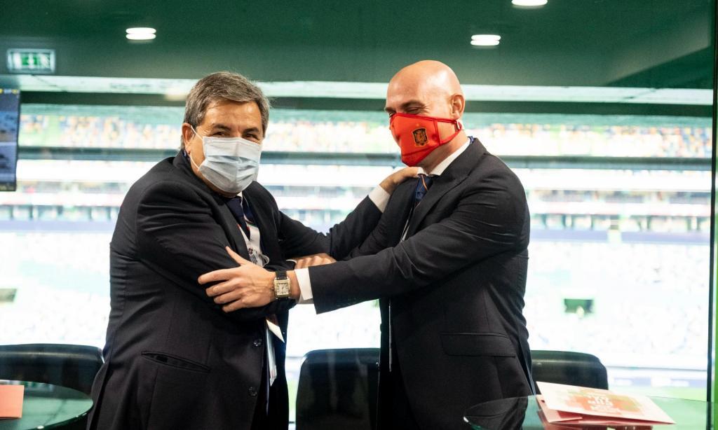 Fernando Gomes e Luis Rubiales