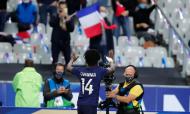 Eduardo Camavinga estreou-se a marcar pela seleção de França ante a Ucrânia (François Mori/AP)