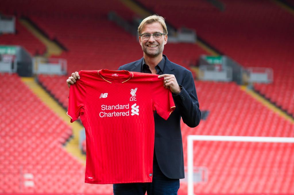 Klopp apresentado no Liverpool