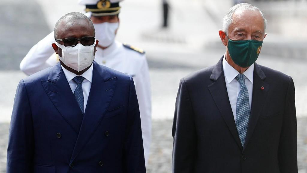 O Presidente da República da Guiné-Bissau, General Umaro Sissoco Embaló, recebido por Marcelo Rebelo de Sousa