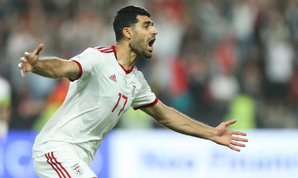 Mehdi Taremi na seleção do Irão (Kamran Jebreili/AP)