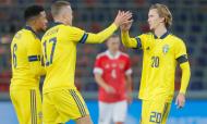 Suécia vence Rússia em jogo particular (Maxim Shipenkov/EPA)