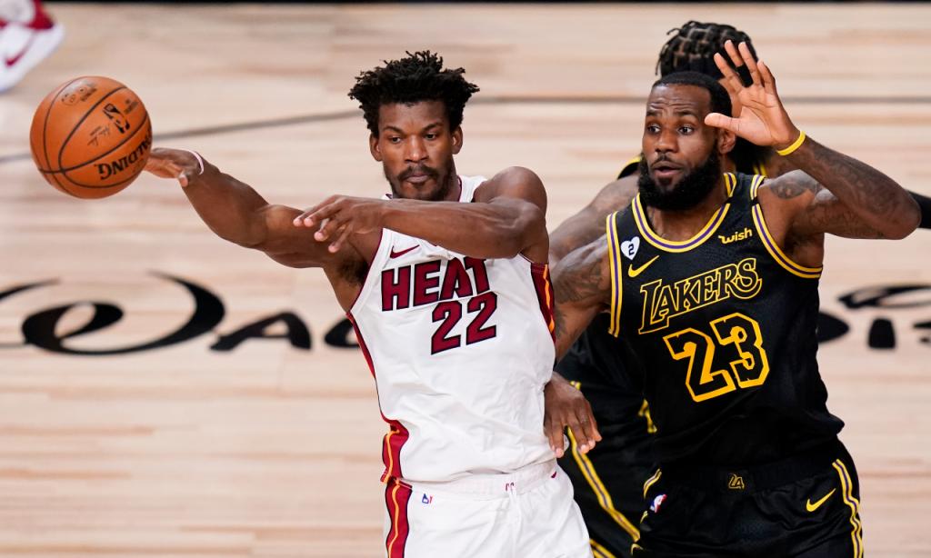 Final NBA, jogo 5: Los Angeles Lakers 108-111 Miami Heat (John Raoux/AP)