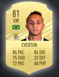 7. Everton Cebolinha, Benfica