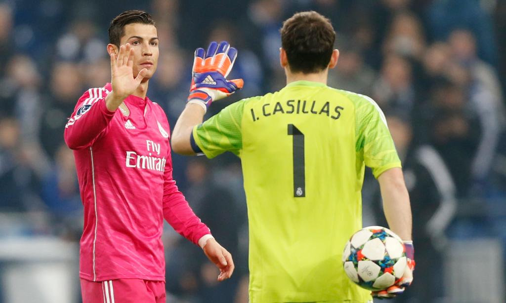 Iker Casillas e Cristiano Ronaldo no Real Madrid (AP)