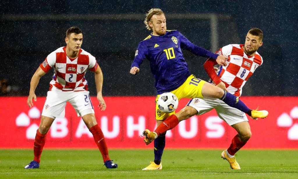 Liga das Nações: Croácia-Suécia (Darko Bandic/AP)