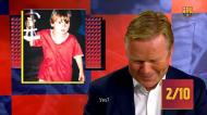 Koeman responde a desafio com fotos dos jogadores do Barça em criança