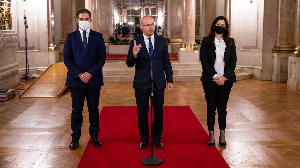 Ministro das Finanças, João Leão, entrega o Orçamento do Estado para 2021 na Assembleia da República