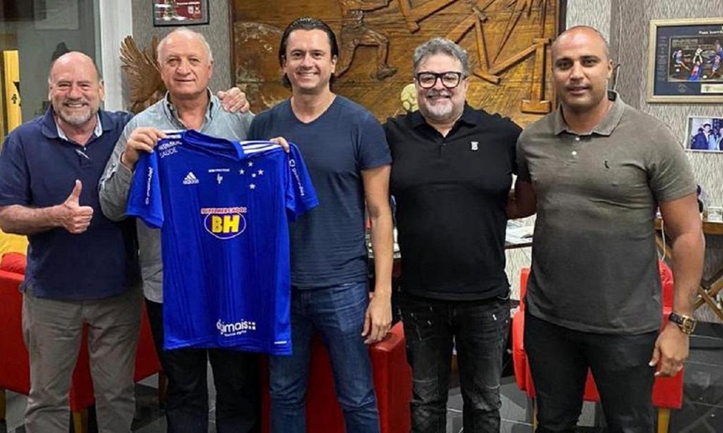 Scolari no Cruzeiro (foto Cruzeiro)