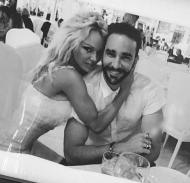 Adil Rami e Pamela Anderson