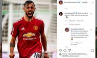 Diálogo entre Bruno Fernandes e Ricardo Horta nas redes sociais (instagram)