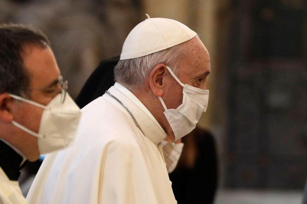 Papa Francisco na missa pela paz