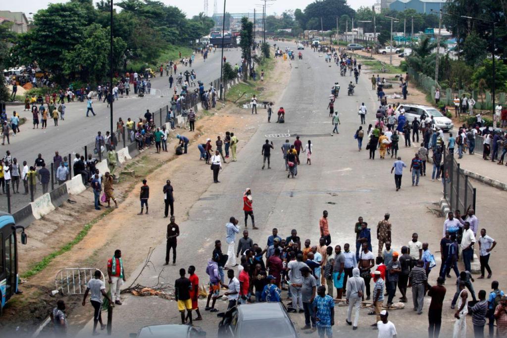 Manifestação em Lagos