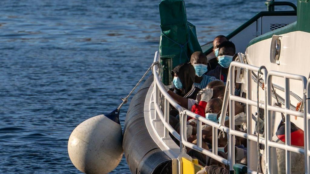 Migrantes resgatados a sul da Gran Canária