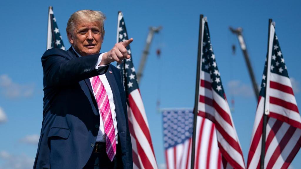 Donald Trump em comício na Carolina do Norte