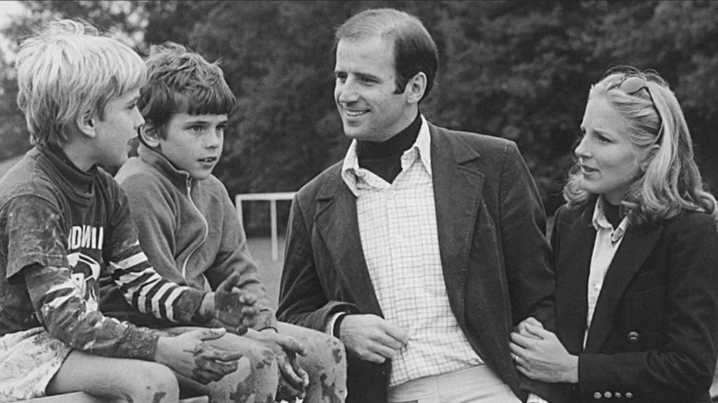 Biden, a mulher e dois filhos