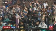 Milhares de pessoas juntam-se na Nazaré a ver as ondas gigantes