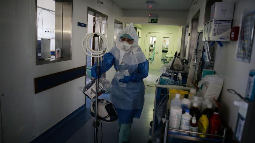 Covid-19 no Hospital de Santa Maria em Lisboa