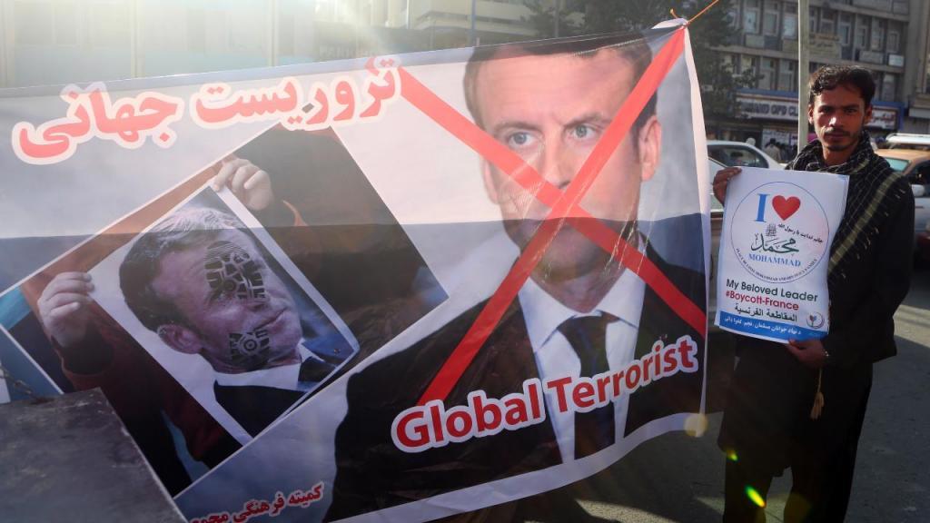 Manifestação no Paquistão contra Emmanuel Macron