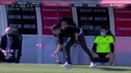 Treinador do Huesca fez o «desafio da garrafa» durante o jogo com o Real Madrid