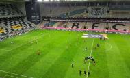 Aquecimento do Benfica no Estádio do Bessa (RJC)