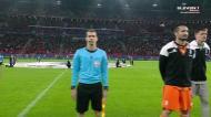 Bela atmosfera (e uma coreografia) na Puskás Arena antes do Ferencváros-Juventus