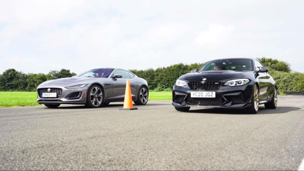 BMW M2 CS vs. Jaguar F-Type First Edition (reprodução «Lovecars»)