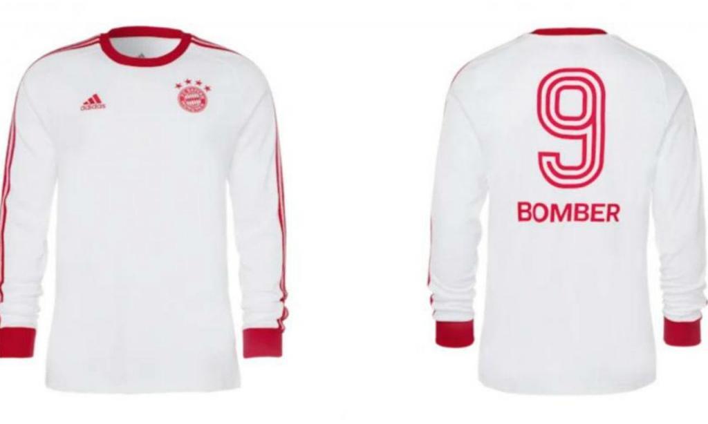 Bayern lançou camisolas retro de homenagem a Gerd Müller e Beckenbauer