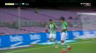 Sanabria empata para o Betis em Camp Nou e pede desculpa