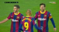 O lance começa em Trincão e Rodri fechou a contagem no Barça-Betis