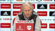 Benfica: Jesus explica mudanças sucessivas nas laterais defensivas