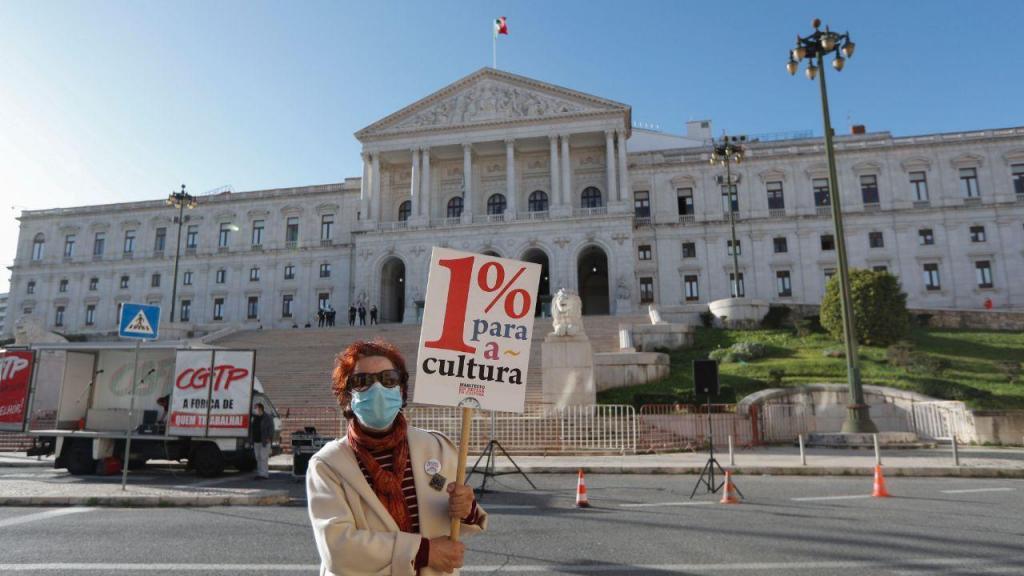 Manifestação de apoio à cultura