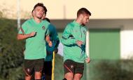 Pedro Gonçalves e Diogo Queirós nos sub-21 em estágio no Algarve, na preparação para a qualificação do Europeu (FPF)