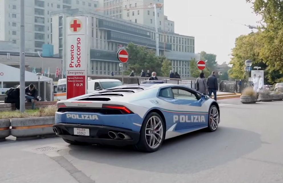 Lamborghini Huracán da Polícia italiana (reprodução Facebook Polizia si Stato)