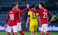 Dinamarca-Suécia: Wind e Bah fizeram os golos do triunfo dinamarquês no particular nórdico (Liselotte Sabroe/EPA)