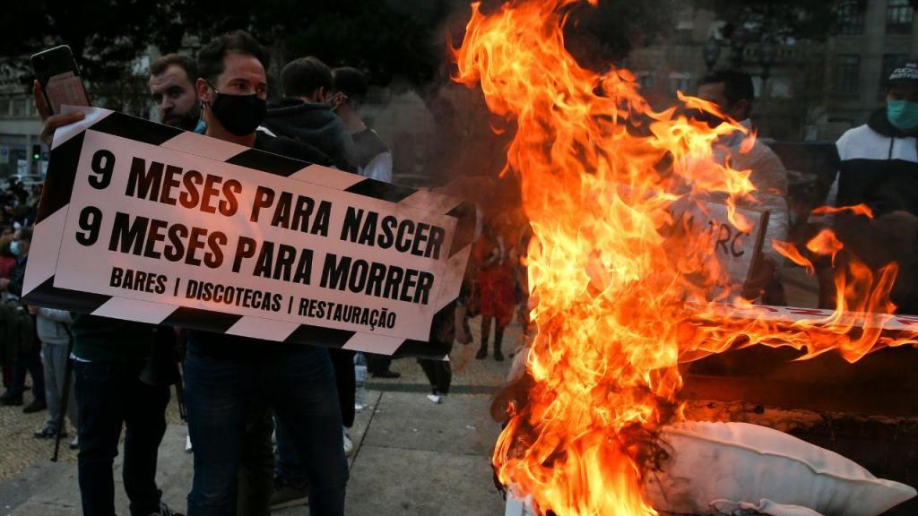 Manifestação do setor da restauração no Porto