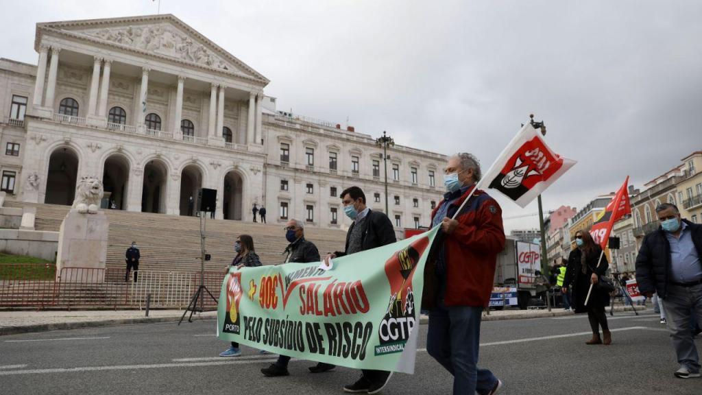 Manifestação nacional da Frente Comum