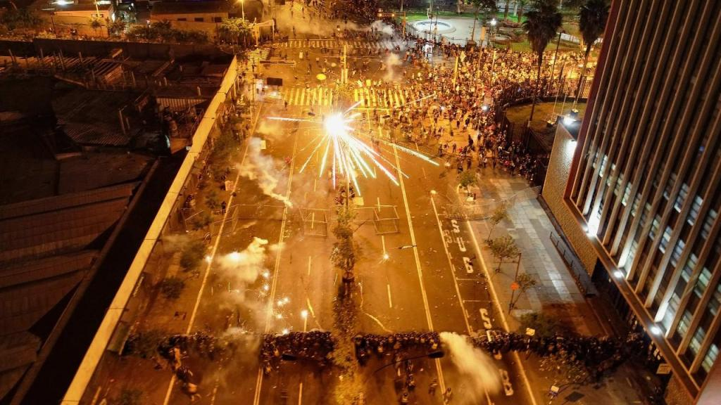 Protestos contra o presidente em Lima, Peru