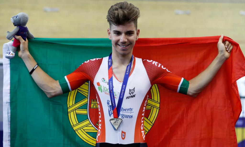 Rui Oliveira, em 2018, nos Europeus de pista de Glasgow (AP)