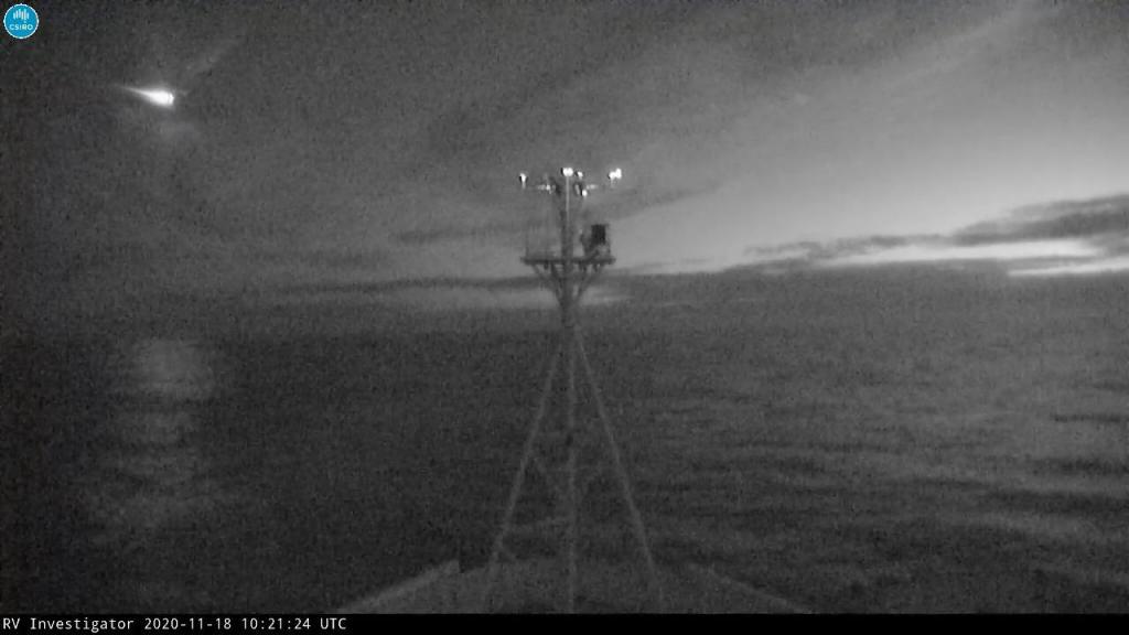 Meteoro captado por embarcação da CSIRO