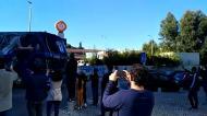 Adeptos à espera do FC Porto já depois da hora de confinamento