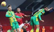 Manchester United-West Bromwich: lance entre Bartley, Martial e Conor Townsend (AP)