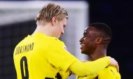 Haaland fez «poker» na estreia de Youssoufa Moukoko na equipa principal do Dortmund, com 16 anos e um dia (Clemens Bilan/Pool)